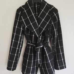 Rampage belted peacoat